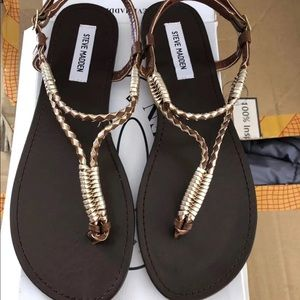 Steve Madden Women's sandals Zander rose gold 11